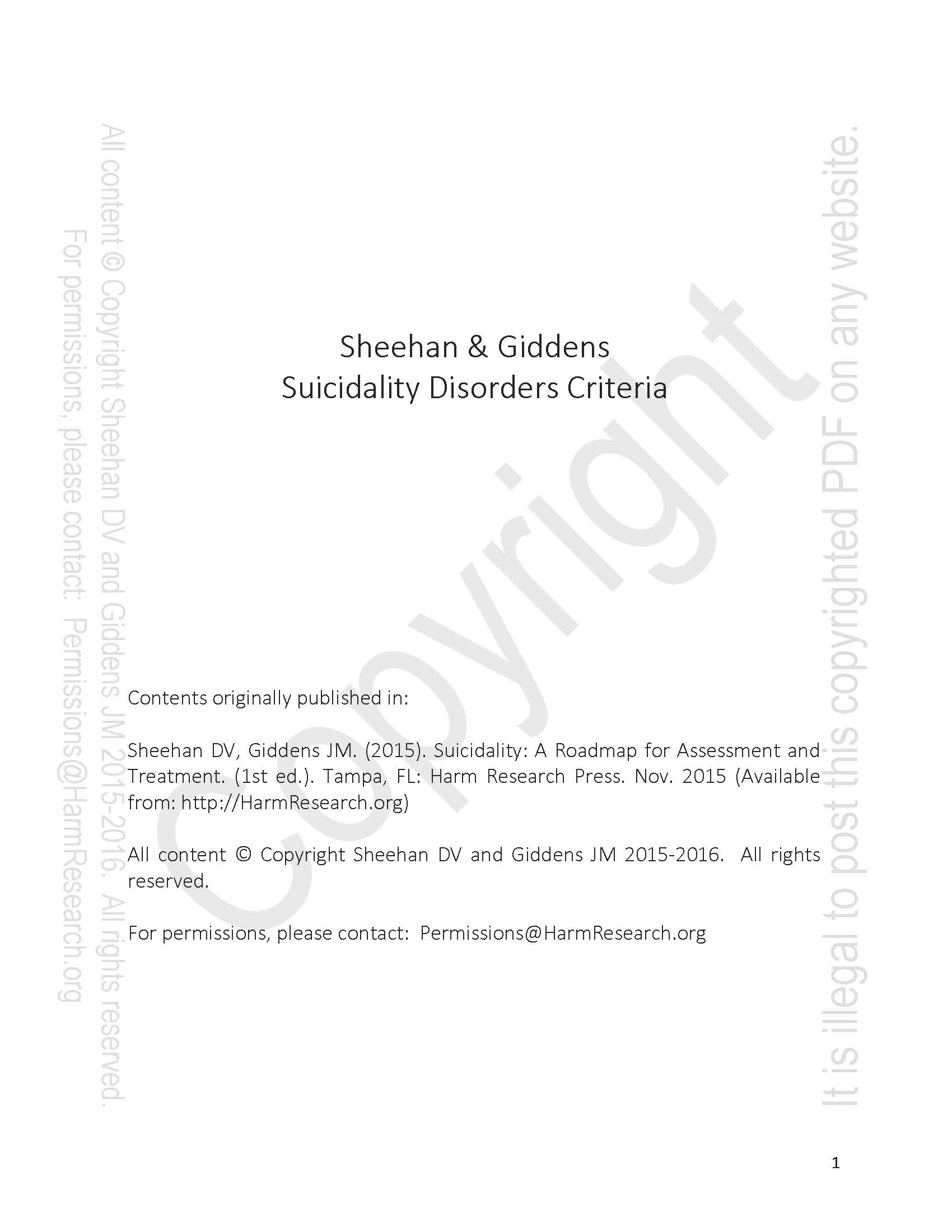 Sheehan giddens phenotypic suicidality disorders classification sheehan giddens phenotypic suicidality disorders classification and criteria 8816 harm research spiritdancerdesigns Images